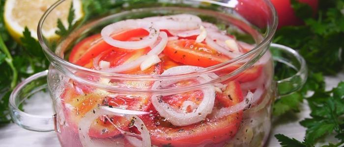 помидоры с луком и маслом на зиму