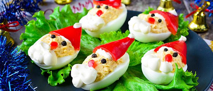 "Яйца ""Дед Мороз"" на Новый год"