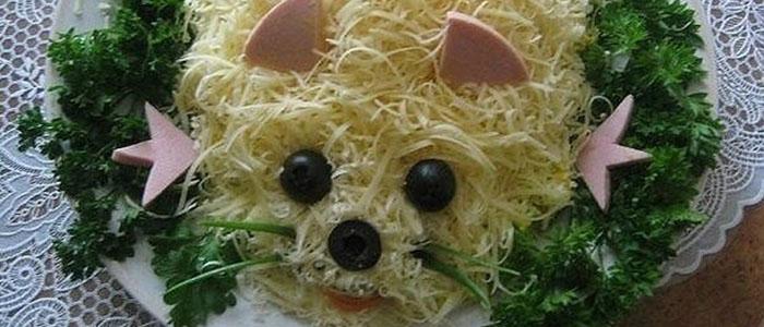 Салат мышка на Новый год